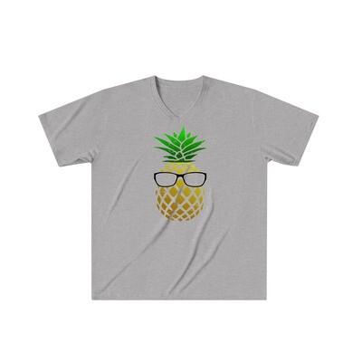 Pineapple Head - Adult VNeck - Tri-Blend
