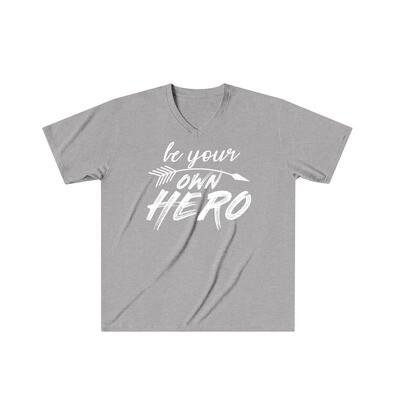 Be Your Own Hero - Adult VNeck - Tri-Blend