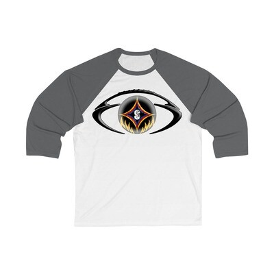 The Black & Gold Football - Adult 3/4 Raglan