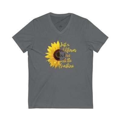 Wildflower Sunflower - Adult VNeck