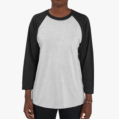 CUSTOM DESIGN - Next Level 6051 - Adult Tri-Blend 3/4 Raglan