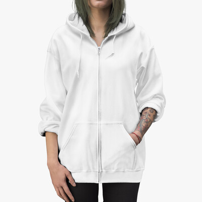 CUSTOM DESIGN - Gildan 18600 - Adult Zip Hoodie