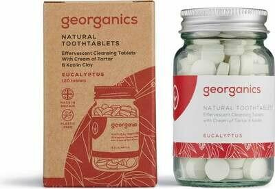 Zobna pasta v tabletkah Georganics - Evkaliptus
