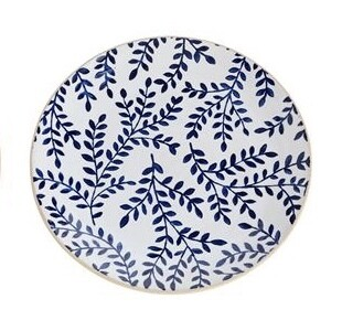Branch Blue Salad Plate