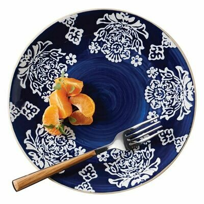 Flower Blue Salad Plate