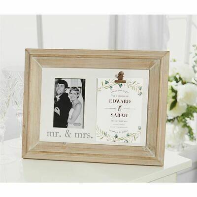 Mr. & Mrs. Invitation Frame