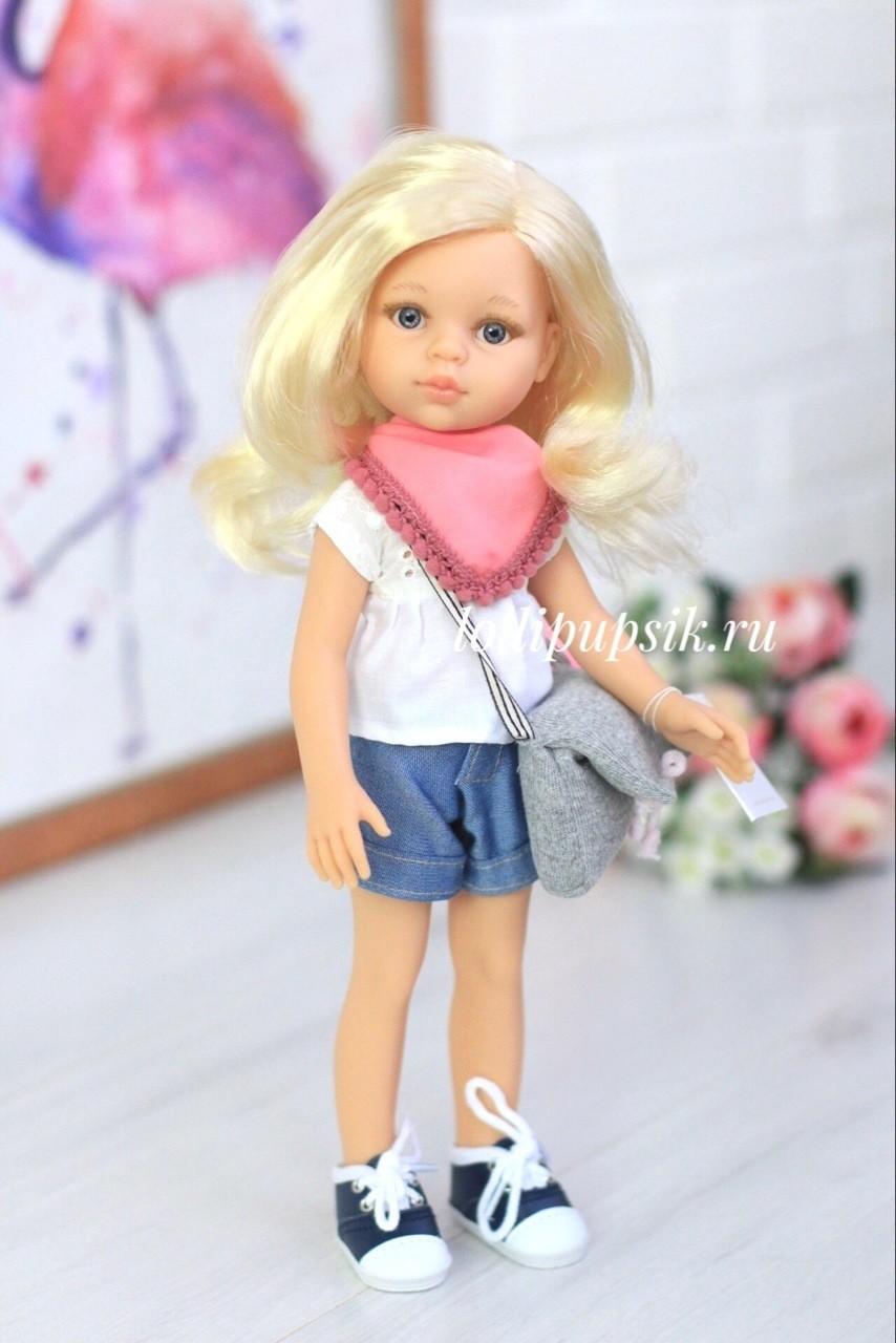 Кукла Клаудия блондинка  в модной одежде (Паола Рейна), 34 см