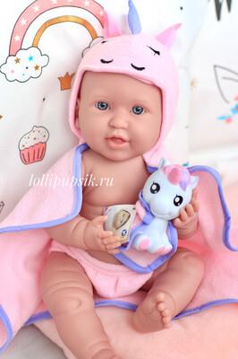 Кукла-младенец с единорогом Berenguer, 43 см