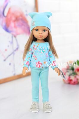 Кукла Карла с волосами по пояс в модном наряде, с голубыми глазами (Паола Рейна), 34 см