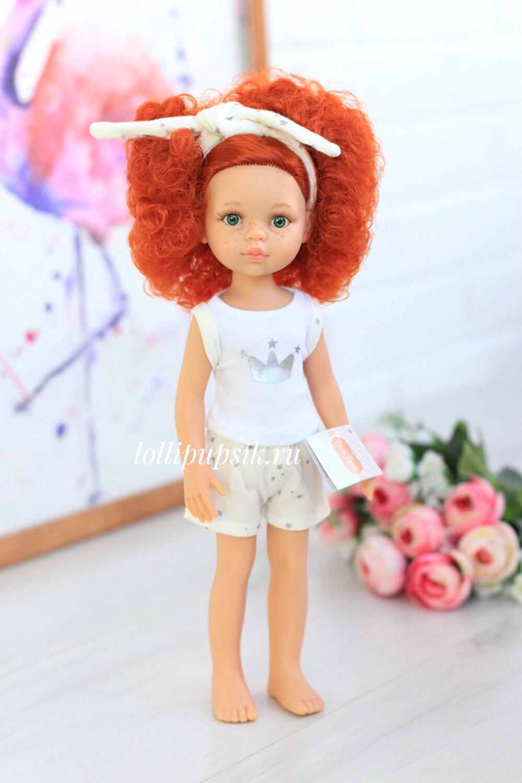 Кукла Каролина с рыжими кудряшками в пижаме (Паола Рейна), 34 см
