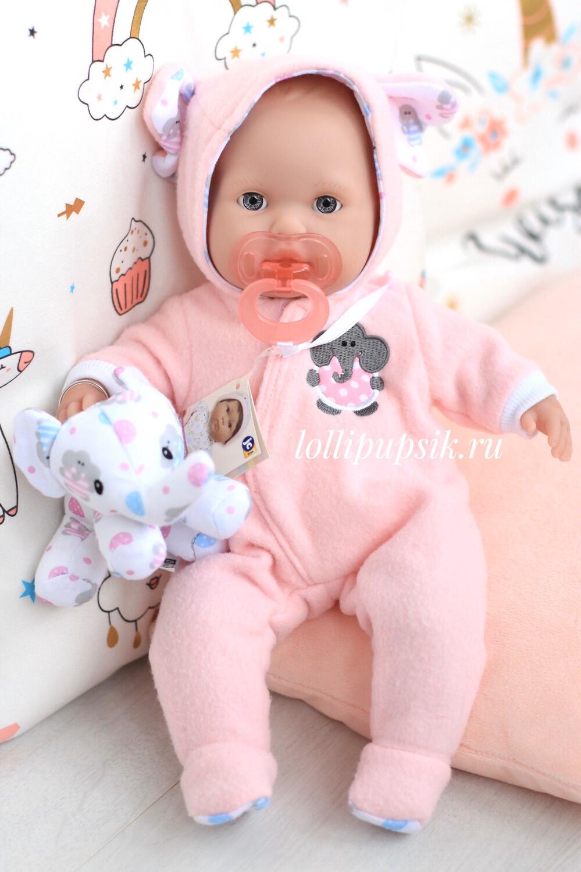 Кукла мягконабивная с закрывающимися глазками Berenguer, 38 см