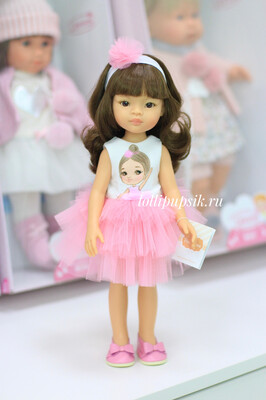 Кукла Мали с челкой в одежде Паола Рейна , 34 см