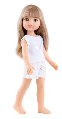 ПРЕДЗАКАЗ. Отправка после 22 июня. Кукла Карла с челкой в пижаме, с серыми глазами (Паола Рейна), 34 см