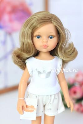 ПРЕДЗАКАЗ. Отправка после 22 июня. Кукла Карла с волосами по пояс в пижаме, с голубыми глазами (Паола Рейна), 34 см
