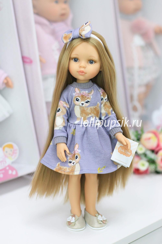 ПРЕДЗАКАЗ. Отправка после 22 июня. Кукла Карла Рапунцель с серыми глазами в платье Паола Рейна , 34 см