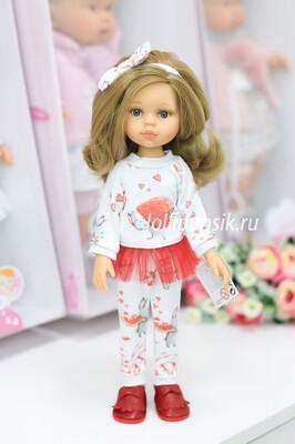 Кукла Карла с серыми глазами, волосами до пояса в модном костюме (Паола Рейна), 34 см