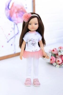 Кукла Мали с серыми глазами в модном костюме, Паола Рейна , 34 см
