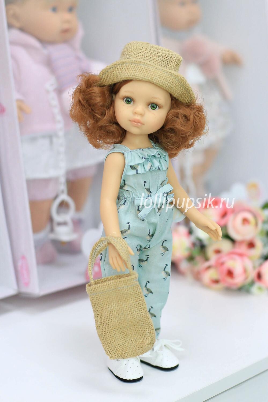 Кукла Кристи Паола Рейна в летнем комбинезоне с сумочкой, 34 см