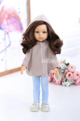 Кукла Кэрол с волосами по пояс в модной одежде, с зелеными глазами (Паола Рейна), 34 см