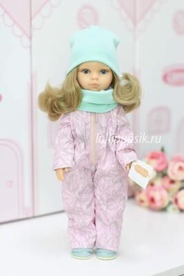 Кукла Карла с волосами по пояс в демисезонном комбинезоне, с серыми глазами (Паола Рейна), 34 см