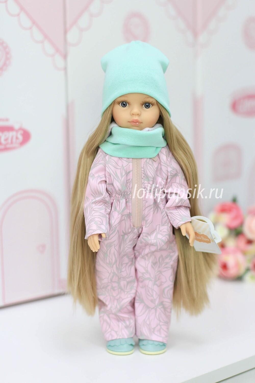 ПРЕДЗАКАЗ. Отправка после 22 июня. Кукла Карла Рапунцель с серыми глазами в демисезонном комбинезоне, Паола Рейна , 34 см