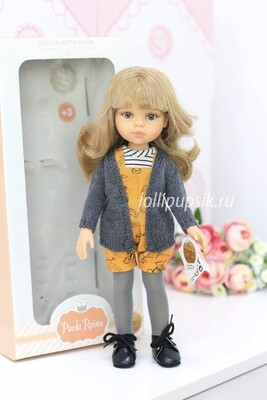 Кукла Карла с серыми глазками (Паола Рейна), 34 см