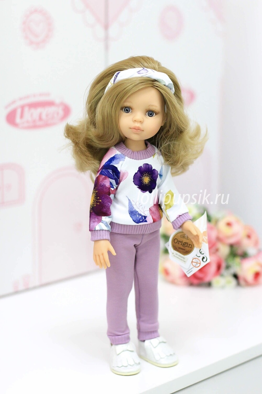ПРЕДЗАКАЗ. Отправка после 22 июня. Кукла Карла с волосами по пояс в модном наряде, с серыми глазами (Паола Рейна), 34 см