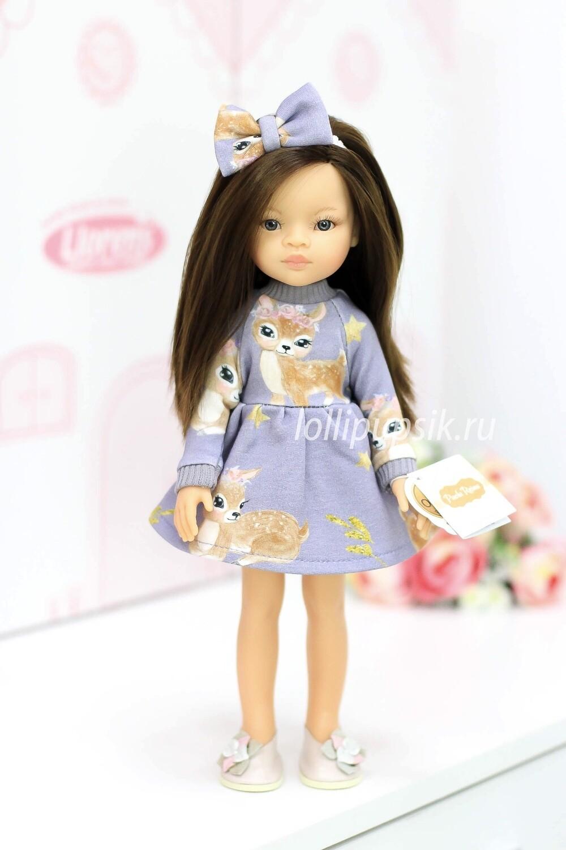 ПРЕДЗАКАЗ. Отправка после 22 июня. Кукла Мали с серыми глазами в модном платье, Паола Рейна , 34 см