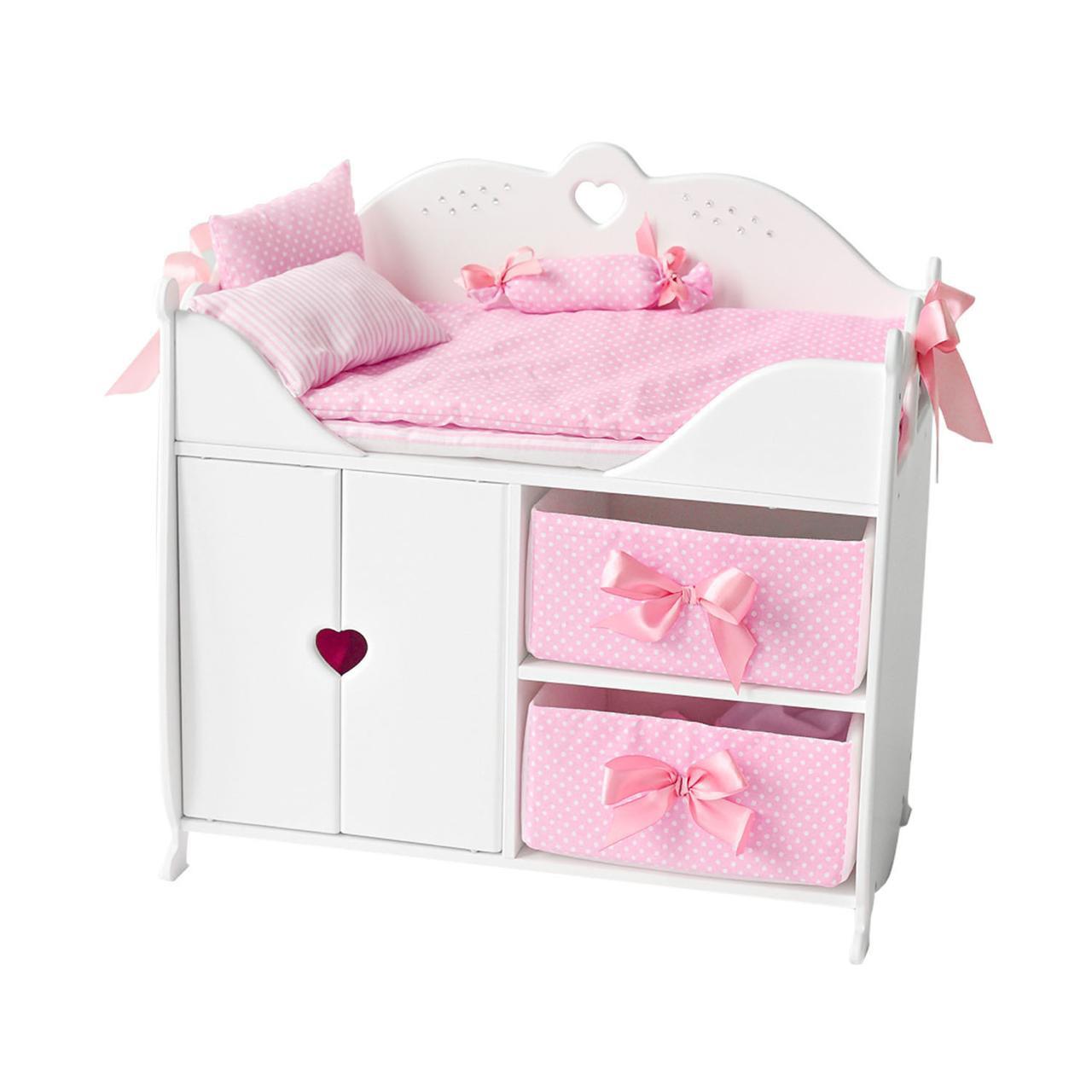 Гардероб с кроватью для кукол до 45 см (постельное белье в комплекте)