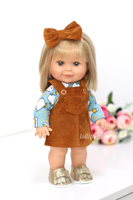 Кукла Бетти с ароматом карамели, 30 см (в сарафане из вельвета) Lamagik Magic Baby