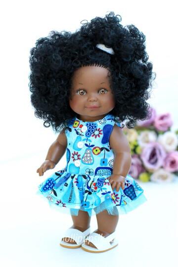 Кукла Бетти-мулатка с ароматом карамели, 30 см (с карими глазками) Lamagik Magic Baby