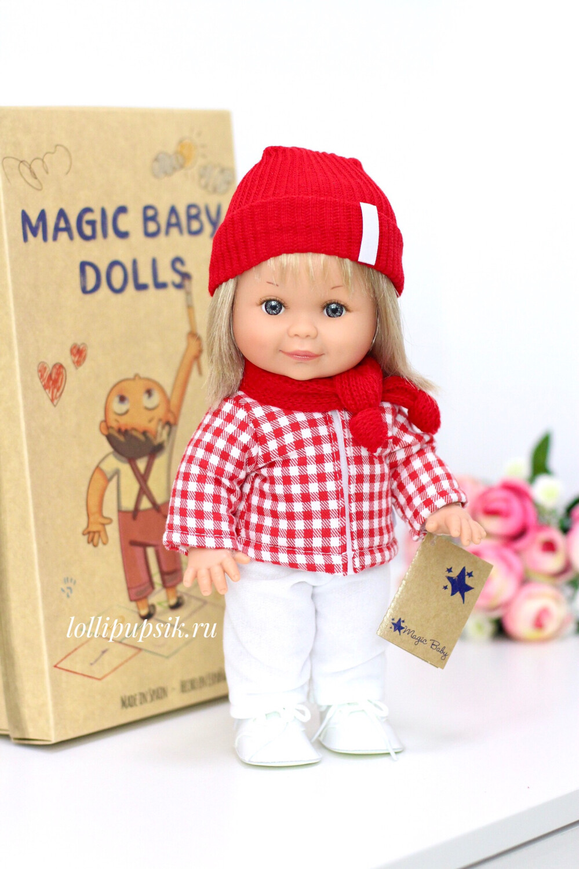 Кукла Бетти с ароматом карамели, 30 см (в сарафане из экокожи) Lamagik Magic Baby