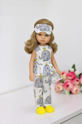 Кукла Карла с волосами до плеч в пижаме (Паола Рейна), 34 см