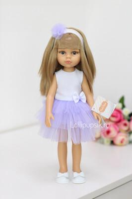 Кукла Карла с челкой в нарядном платье, с волосами до пояса (Паола Рейна), 34 см