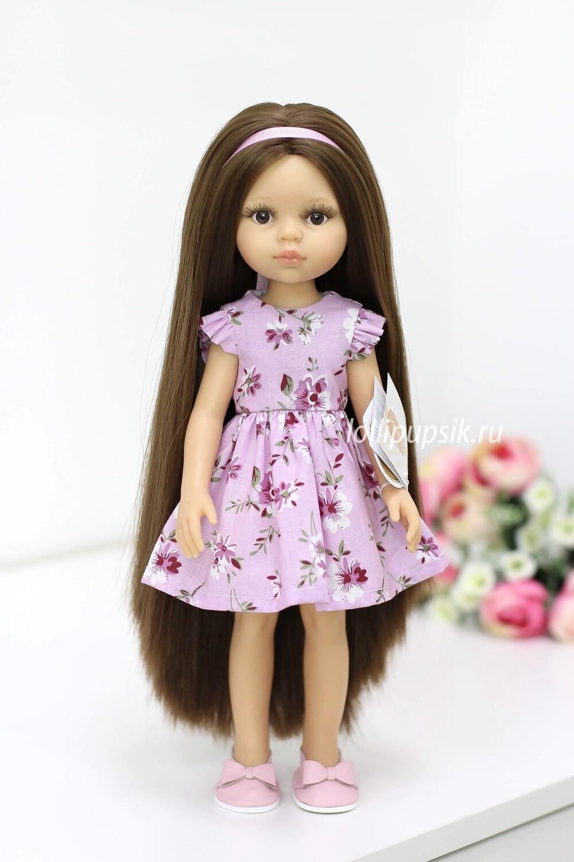 ПРЕДЗАКАЗ. Отправка после 22 июня. Кукла Кэрол с волосами до щиколоток в летнем платье, Paola Reina, 34см