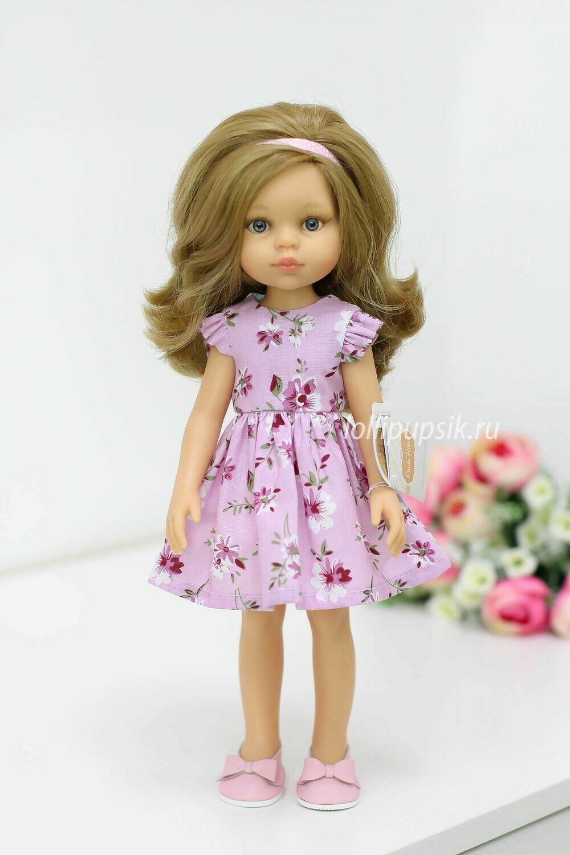ПРЕДЗАКАЗ. Отправка после 22 июня. Кукла Карла с серыми глазами, волосами до пояса в летнем платье (Паола Рейна), 34 см