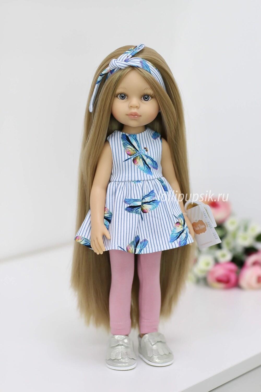 ПРЕДЗАКАЗ. Отправка после 22 июня. Кукла Карла Рапунцель с серыми глазами в модном костюме, Паола Рейна , 34 см