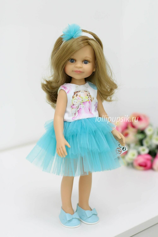Кукла Клео в нарядном платье Паола Рейна , 34 см
