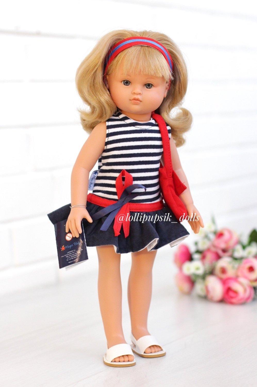 Lamagik S.L. (Magic Baby) Кукла Нэни в полосатом платье 42 см с ароматом карамели