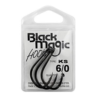 KS 6/0 Black Hooks