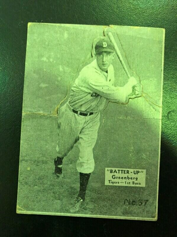 1934 Batter Up #37 Hank Greenberg rookie