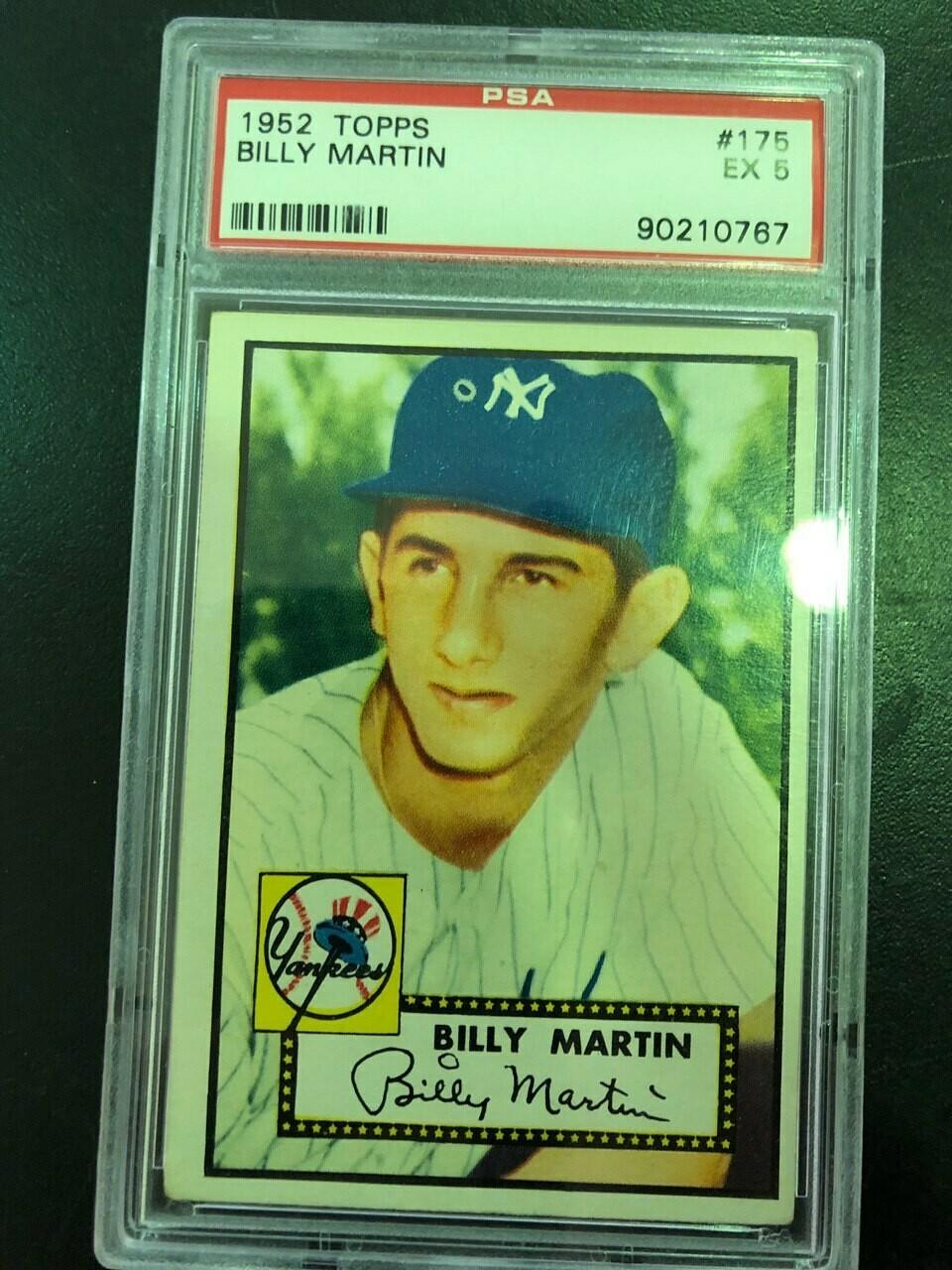 1952 Topps #175 Billy Martin rookie, PSA graded 5, $395