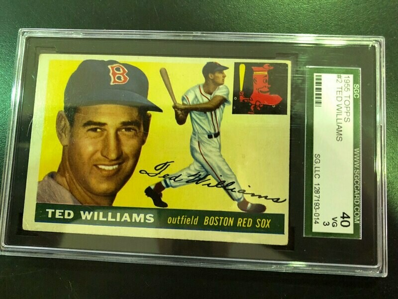 1955 Topps  #2 Ted Williams, SGC 3, $225