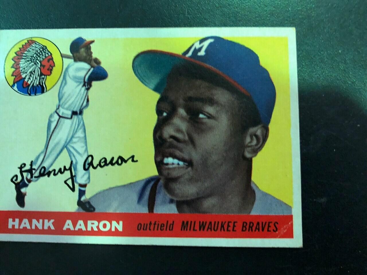 1955 Topps #47 Hank Aaron, List $600, sell $295
