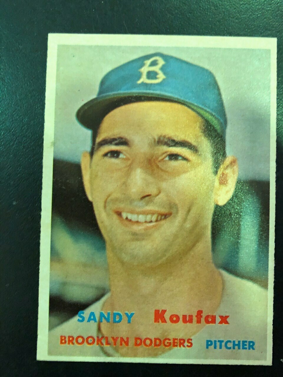 1957 Topps #302 Sandy Koufax, List $300, sell $295