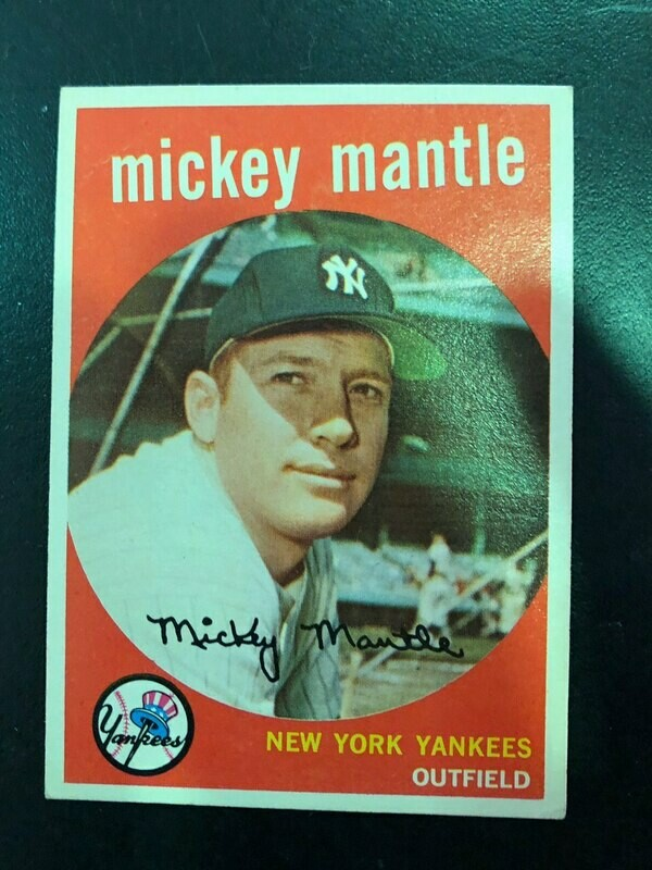 1959 Topps #10 Mickey Mantle, List $800, Sell $495