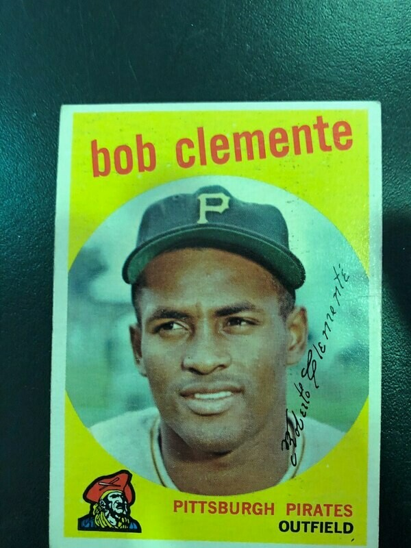 1959 Topps #478 Roberto Clemente, List $150, Sell $95