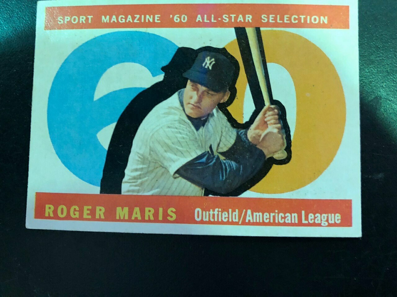 1960 Topps #565 Roger Maris All Star, List $100, Sell $90