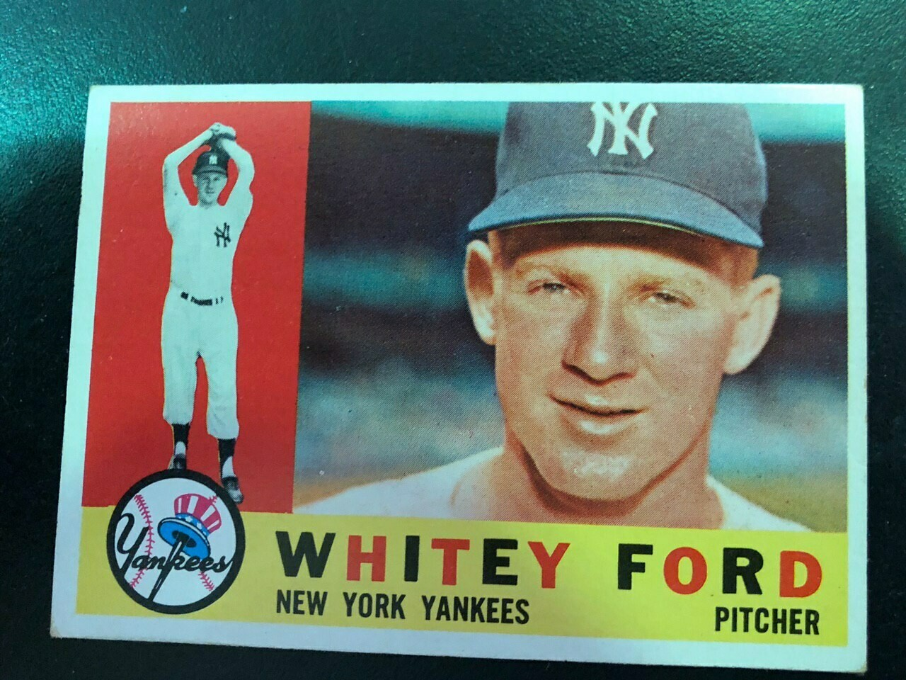 1960 Topps #35 Whitey Ford, List $60, Sell $50