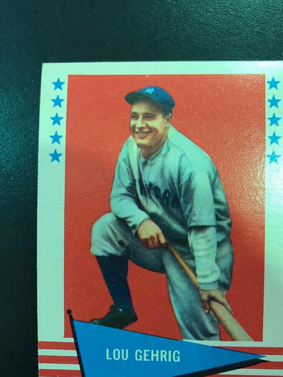 1961 Fleer #31 Lou Gehrig $60